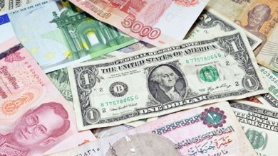 العملات العربية والاجنبية