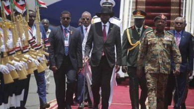 رئيس دولة جنوب السودان سلفا كير ميارديت لدى وصوله إلى الخرطوم (سونا)