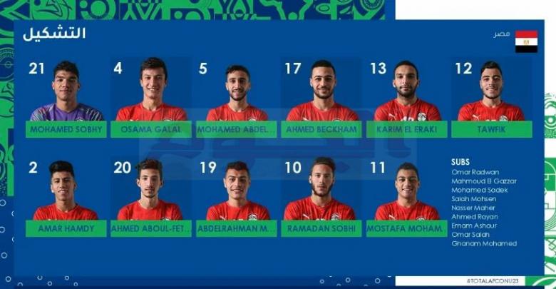 تشكيل منتخب مصر الأولمبي في مباراة جنوب إفريقيا الحاسمة اليوم