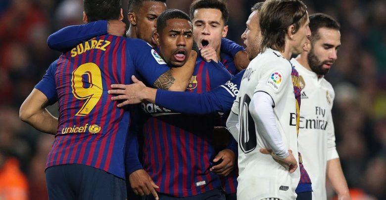 """نتيجة بحث الصور عن موعد مباراة برشلونة وريال مدريد"""""""
