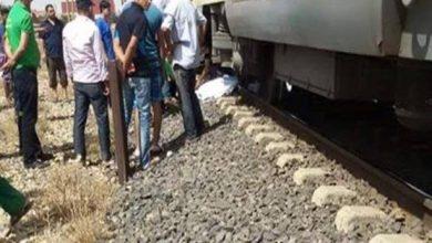 مصرع ربة منزل أسفل عجلات القطار