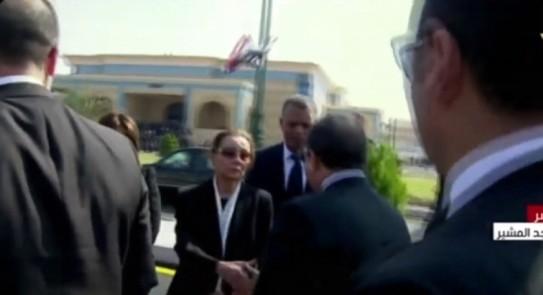 نتيجة بحث الصور عن سوزان مبارك في جنازة مبارك