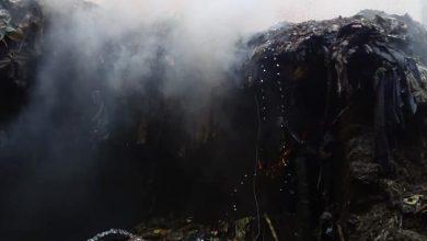 حرق القمامة يهدد حياه الآهالي بالصنافين