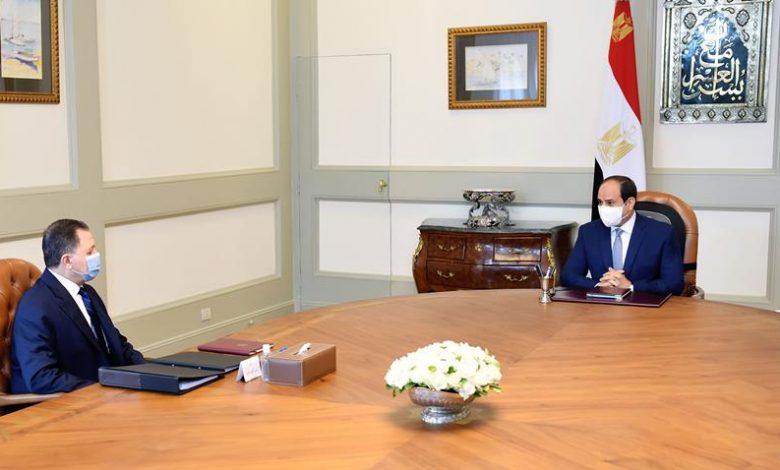 الرئيس عبد الفتاح السيسي يجتمع بوزير الداخلية