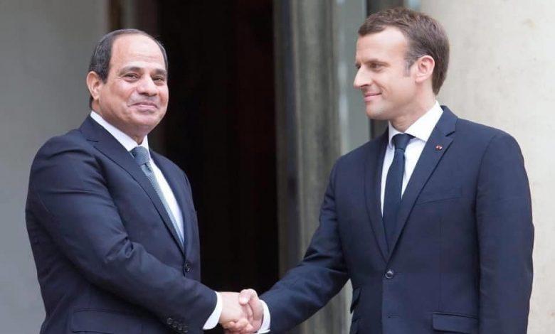 السيسي والرئيس الفرنسي
