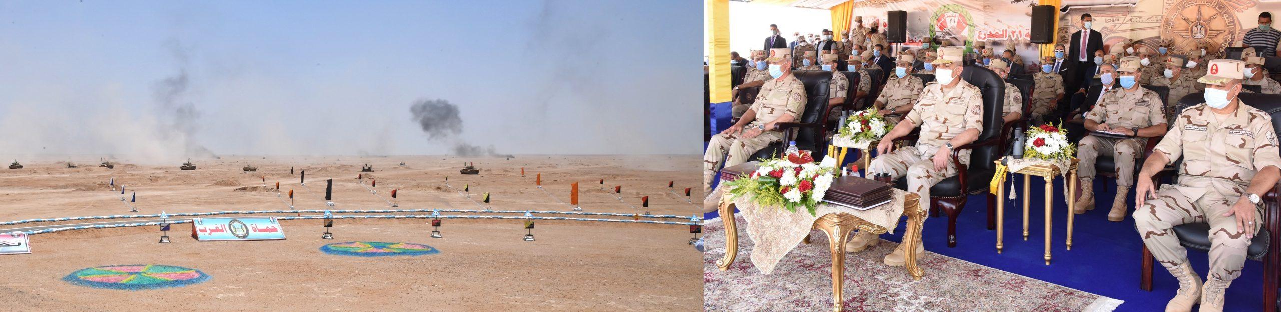 وزير الدفاع يشهد المناورة حسم