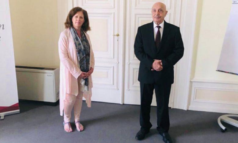 صالح يبحث مع المبعوثة الدولية بجنيف الحل السلمى للأزمة الليبية