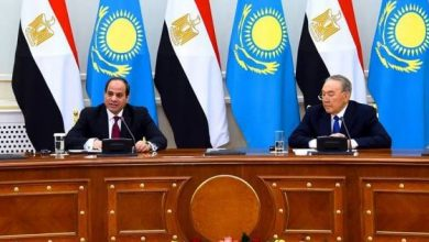 السيسي ورئيس كازاخستان