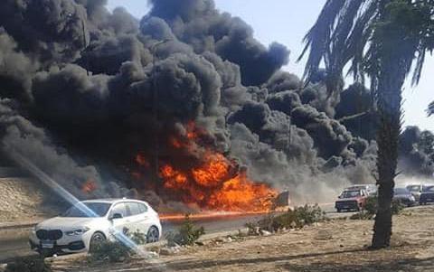 حريق الطريق الصحرواي