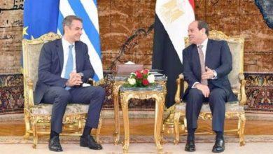 السيسي و رئيس الوزراء اليوناني كرياكوس ميتسوتاكيس