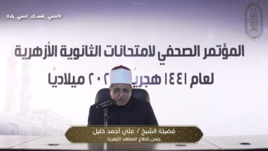 الشيخ على خليل رئيس قطاع المعاهد الأزهرية