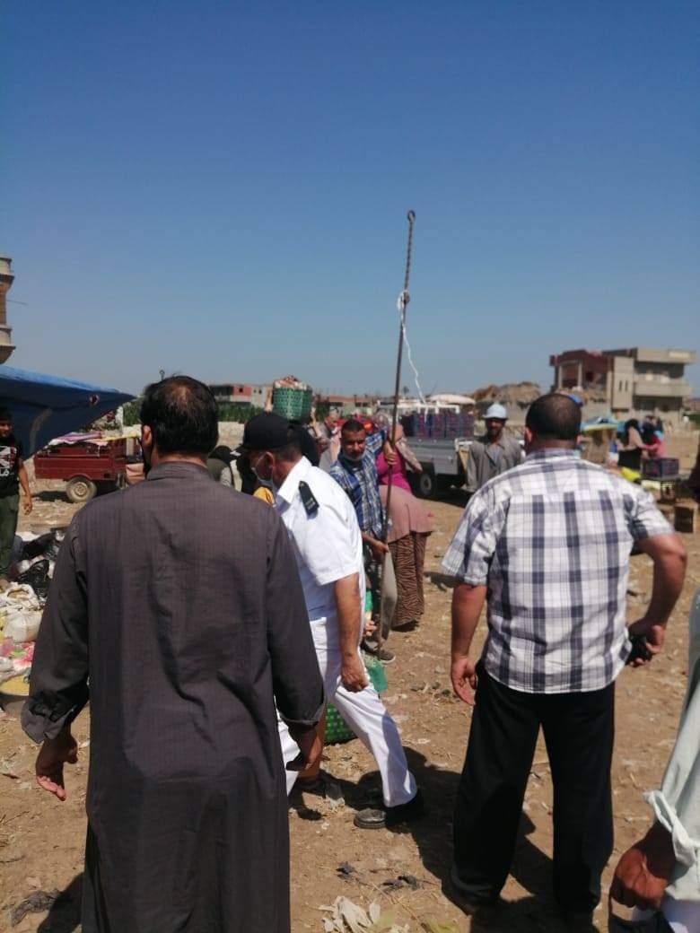 فض أسواق بأبو حمص والدلنجات