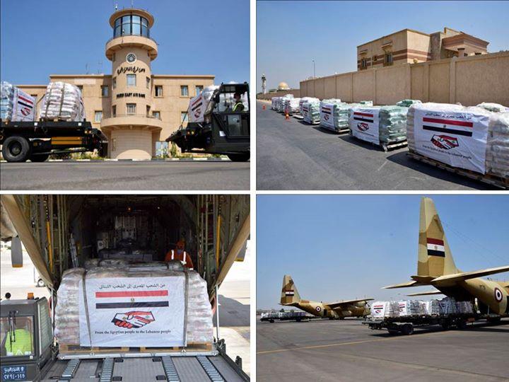 إرسال المساعدات للبنان