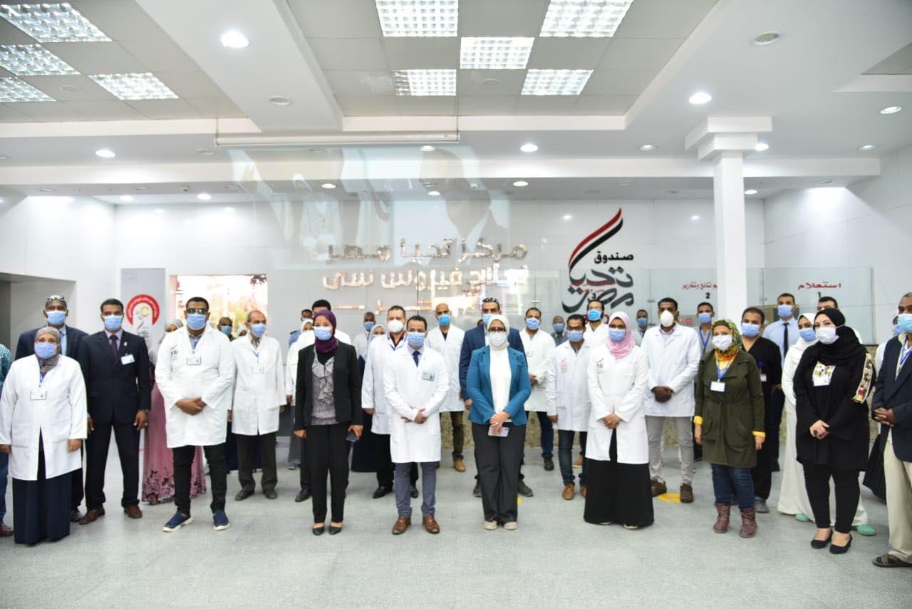 وزيرة الصحة تتفقد مستشفى حميات الأقصر