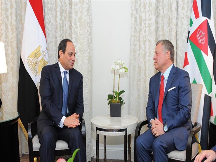 ملك الأردن و الرئيس السيسي