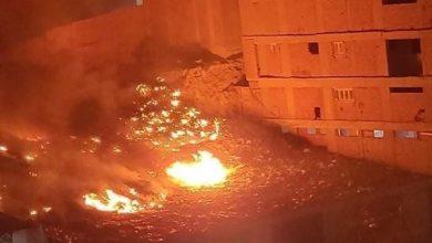 حريق هائل بمدينة نصر
