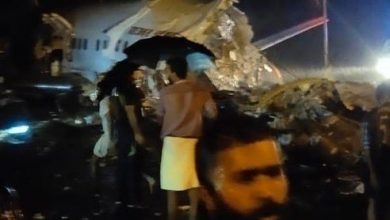 سقوط طائرة هندية