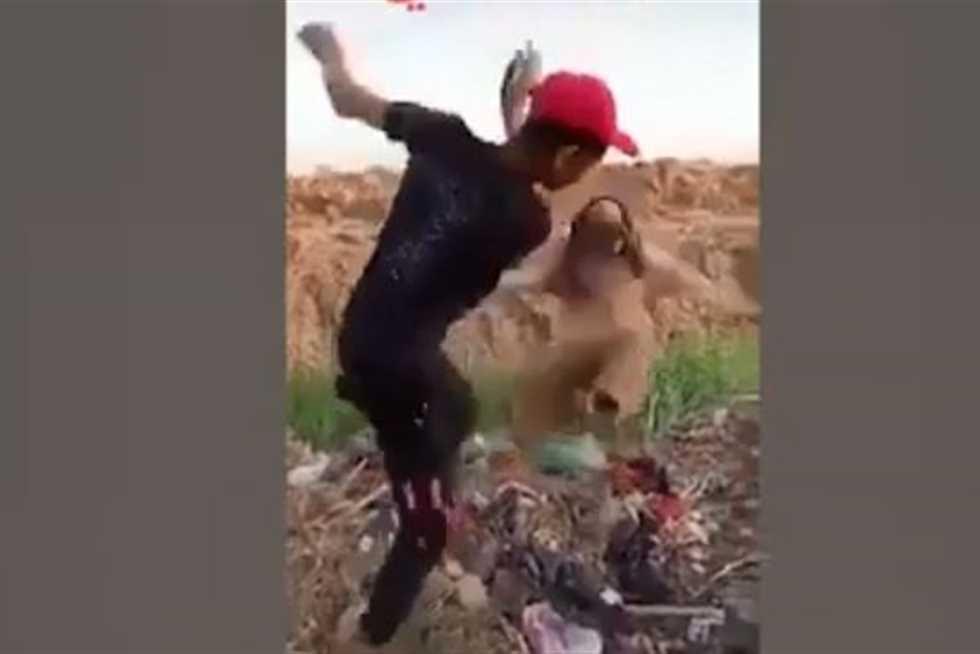 فيديو الأعتداء على مسن