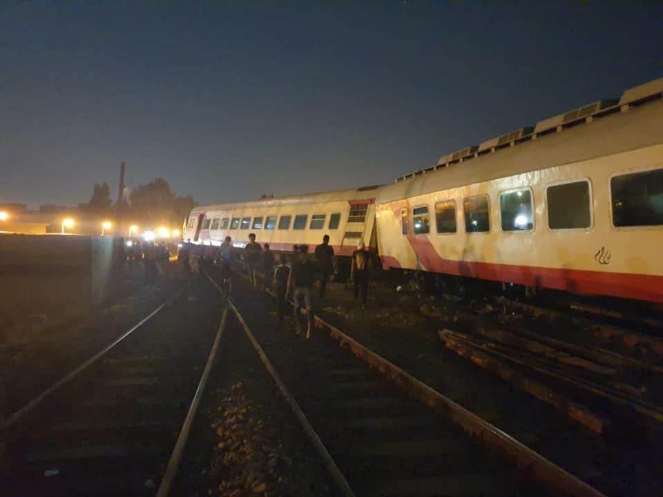 خروج قطار عن القضبان