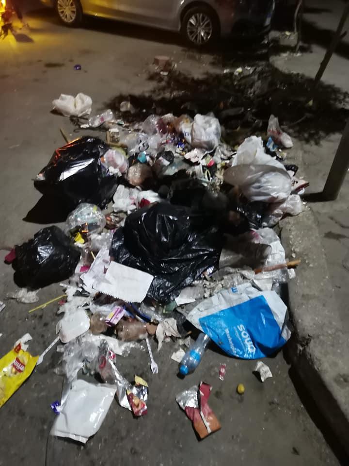 القمامة بشوارع حلوان
