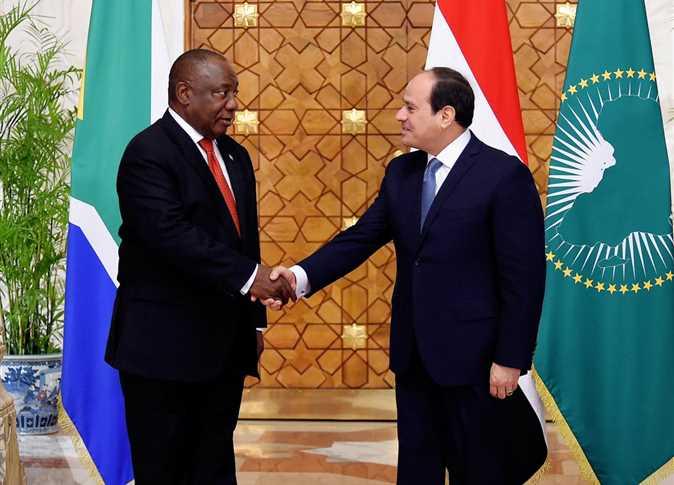 السيسي ورئيس جنوب افريقيا