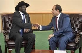 الرئيس السيسي ورئيس جنوب السودان