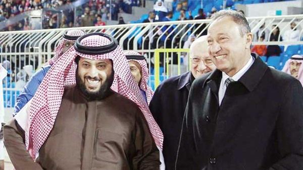 الكابتن محمود الخطيب والمستشار تركي آل الشيخ