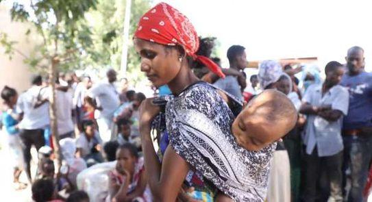 لاجئة أثيوبية