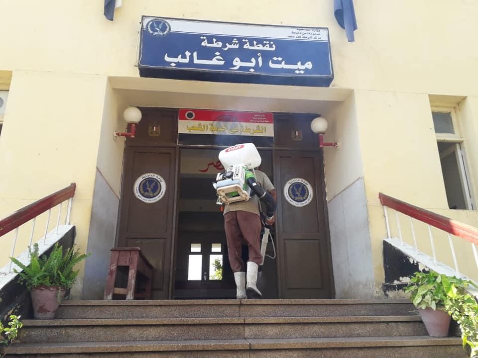 جهود المكافحة والتطهير بمدينة ميت أبو غالب