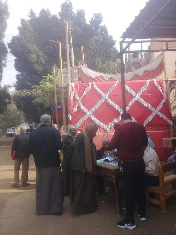 توافد الناخبين على لجان المنيا