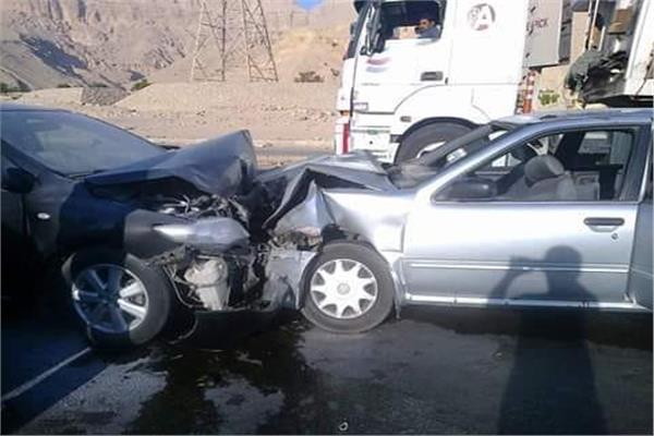 حادث تصادم ببنى مزار