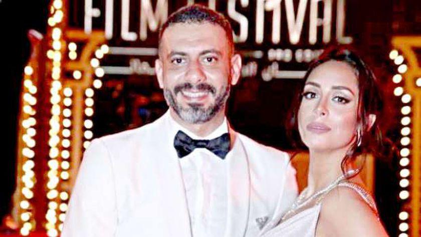 محمد فراج وزوجته