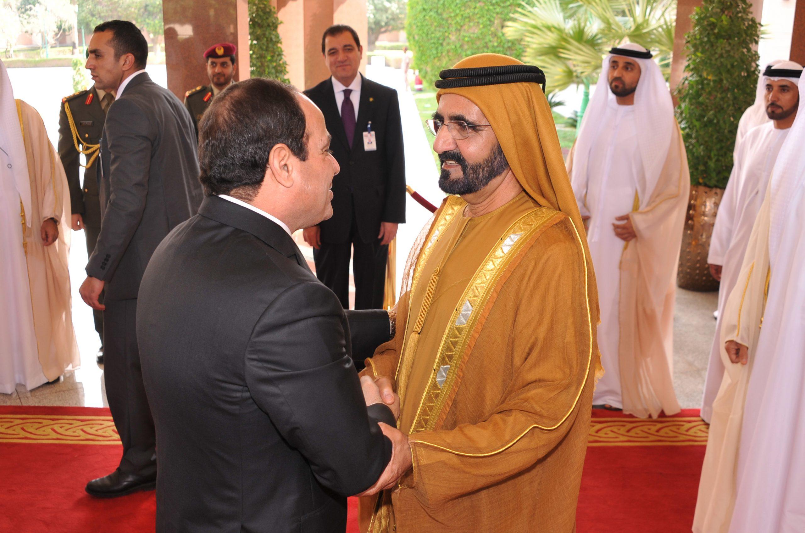 حاكم دبي يهنئ الرئيس السيسي