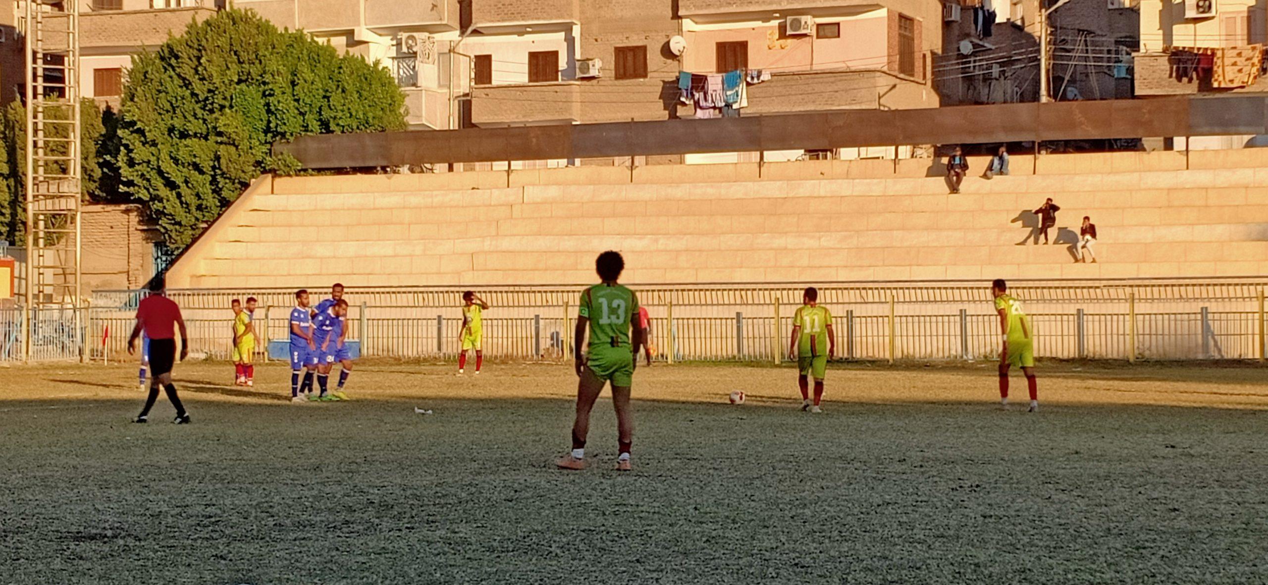 مباراة شبان قنا وأسمنت أسيوط بالقسم الثاني، تصوير نورهان ذكي