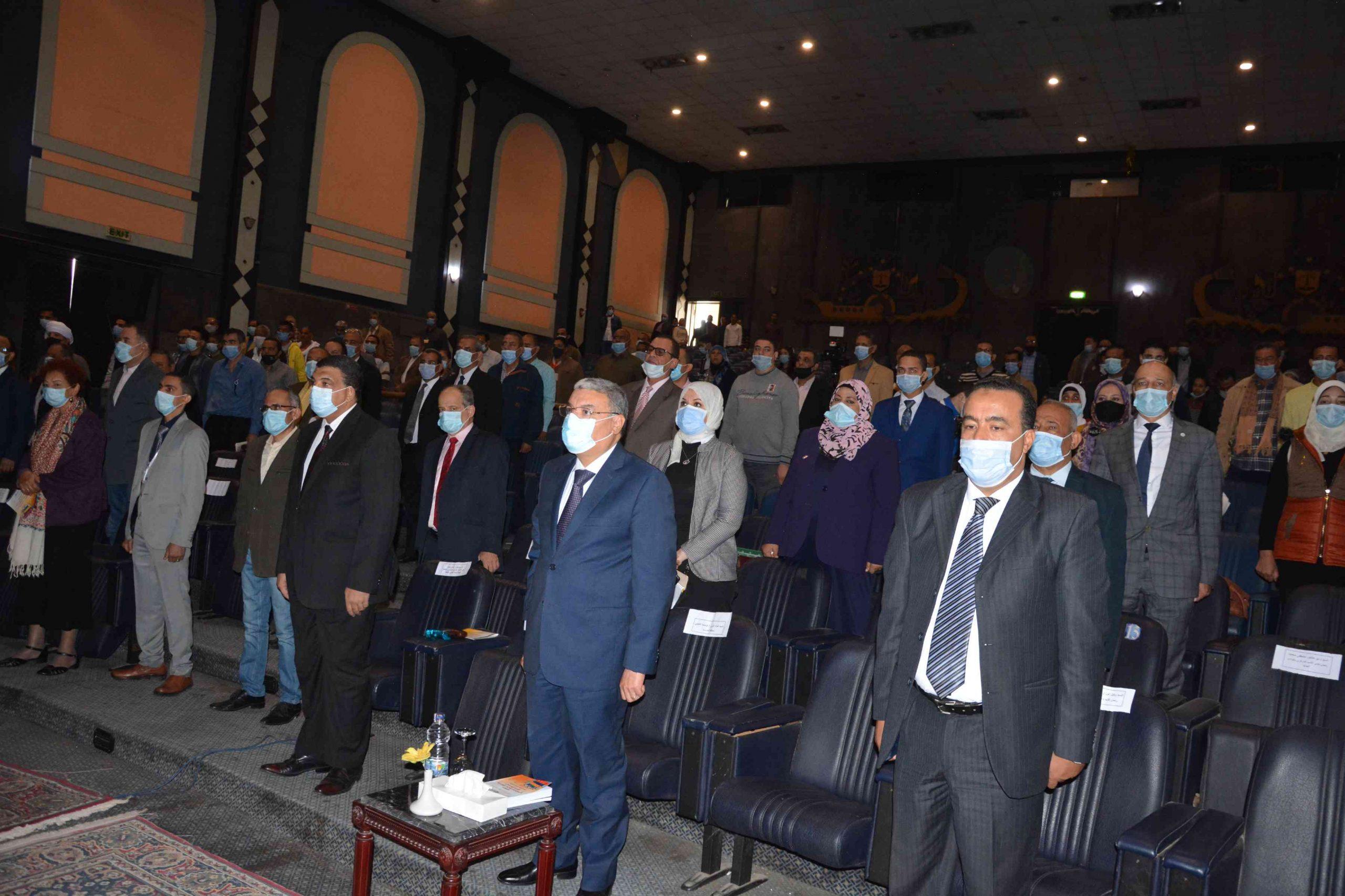 محافظ المنيا يشهد مؤتمر اقليم الصعيد الثقافى