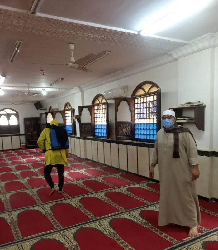 حملة وزارة الأوقاف لتنظيف وتعقيم المساجد