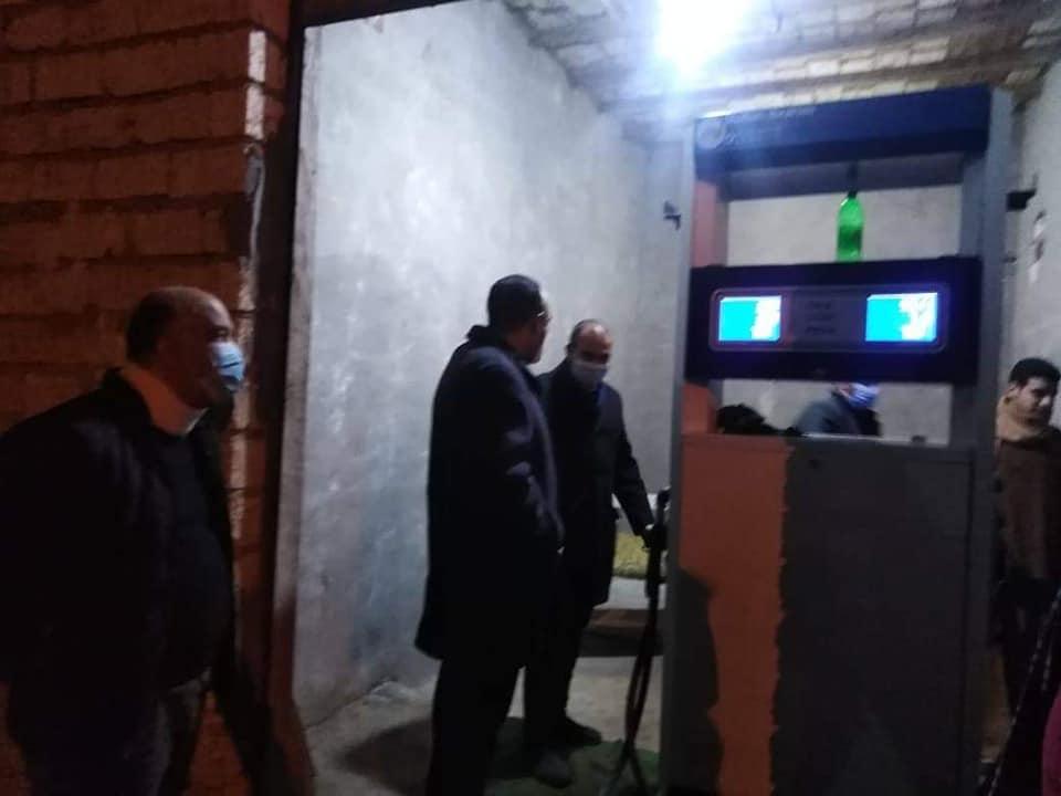 نائب محافظ المنيا يضبط خزان سولار