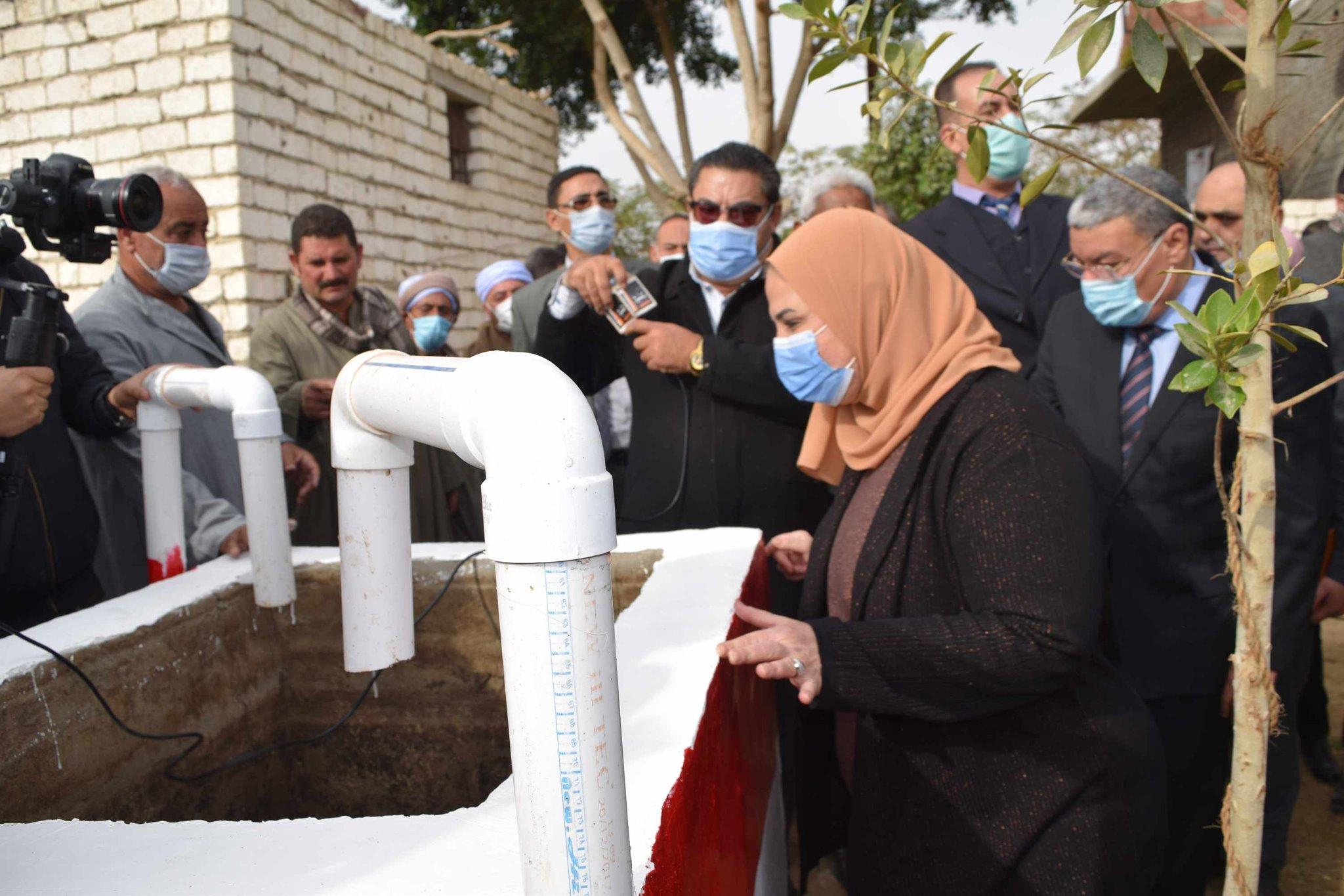 وزيرة لتضامن تشهد افتتاح مشروع البيوجاز بالمنيا
