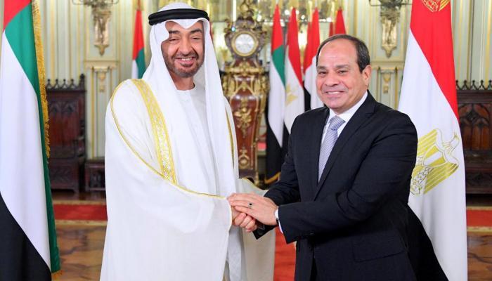 السيسي ومحمد بن زايد في لقاء سابق