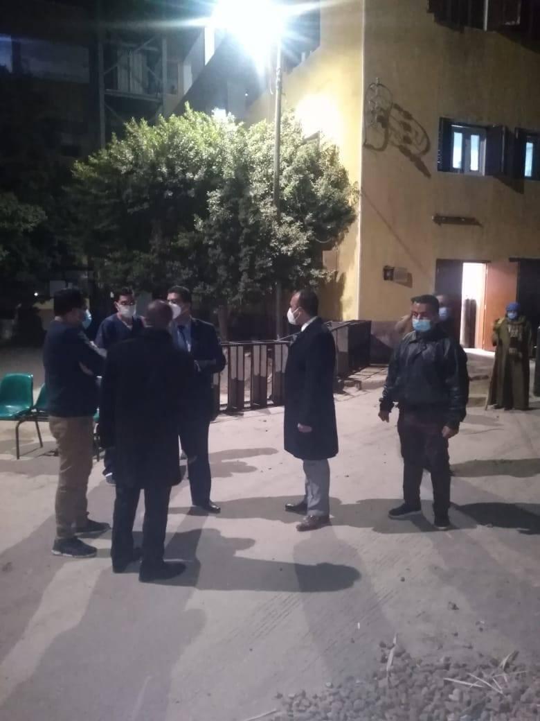 نائب المحافظ دخل احدى مستشفيات كورونا
