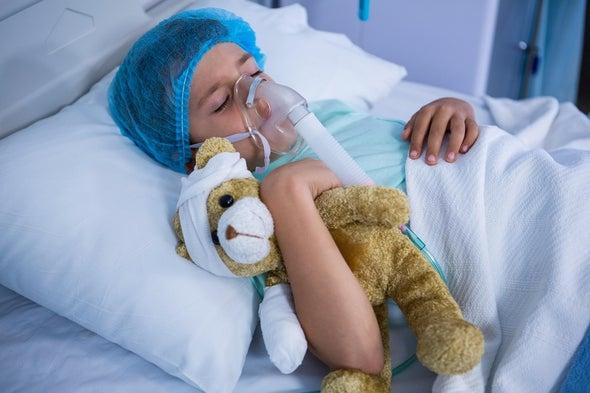 طفل مصاب بكورونا