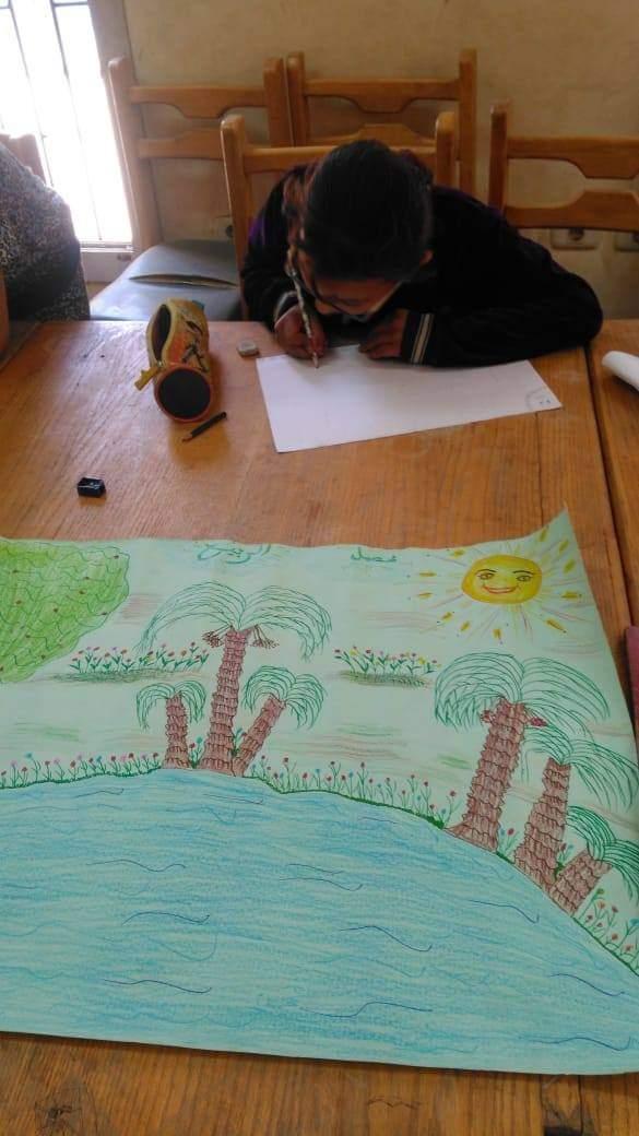 مسابقات فنية بقرية البرشا