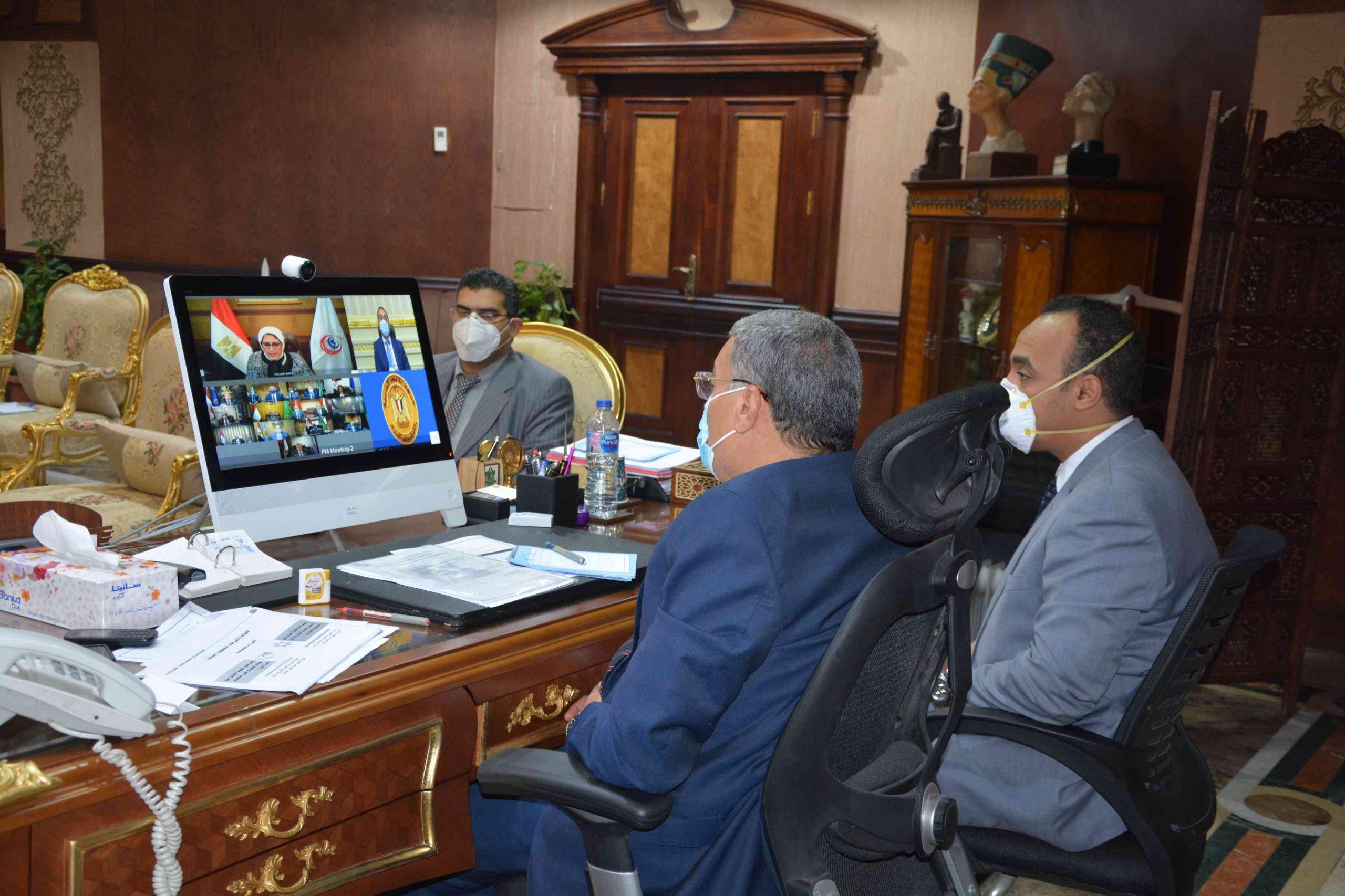 محافظ المنيا مع رئيس مجلس الوزراء