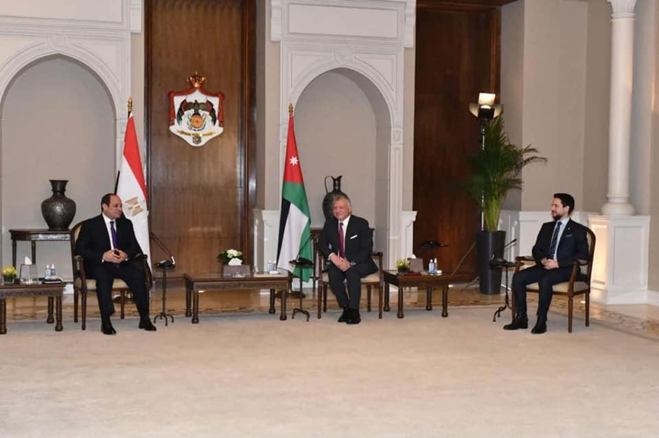 قمة الرئيس السيسي والعاهل الأردني