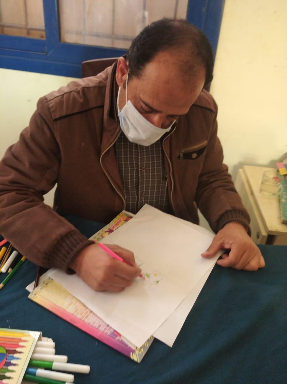 ورشة فنية بثقافة المنيا