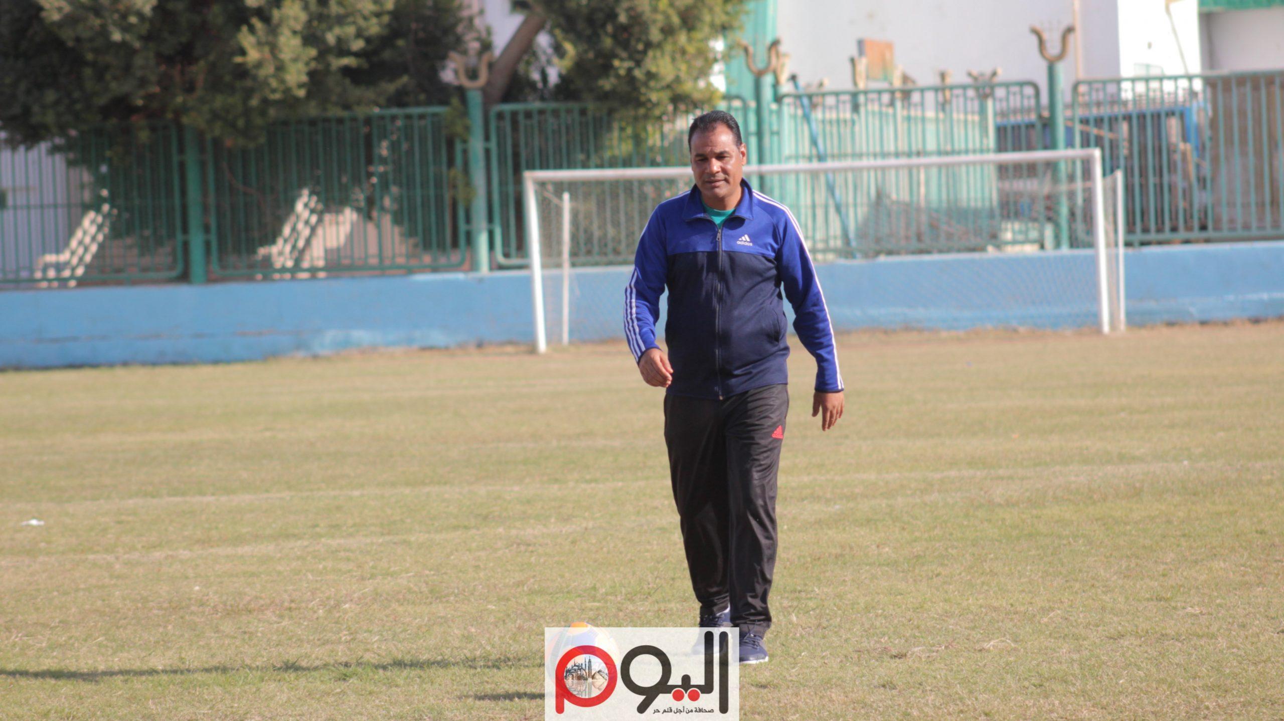 محمود إبراهيم، مدرب قنا بالقسم الثاني، تصوير نورهان ذكي