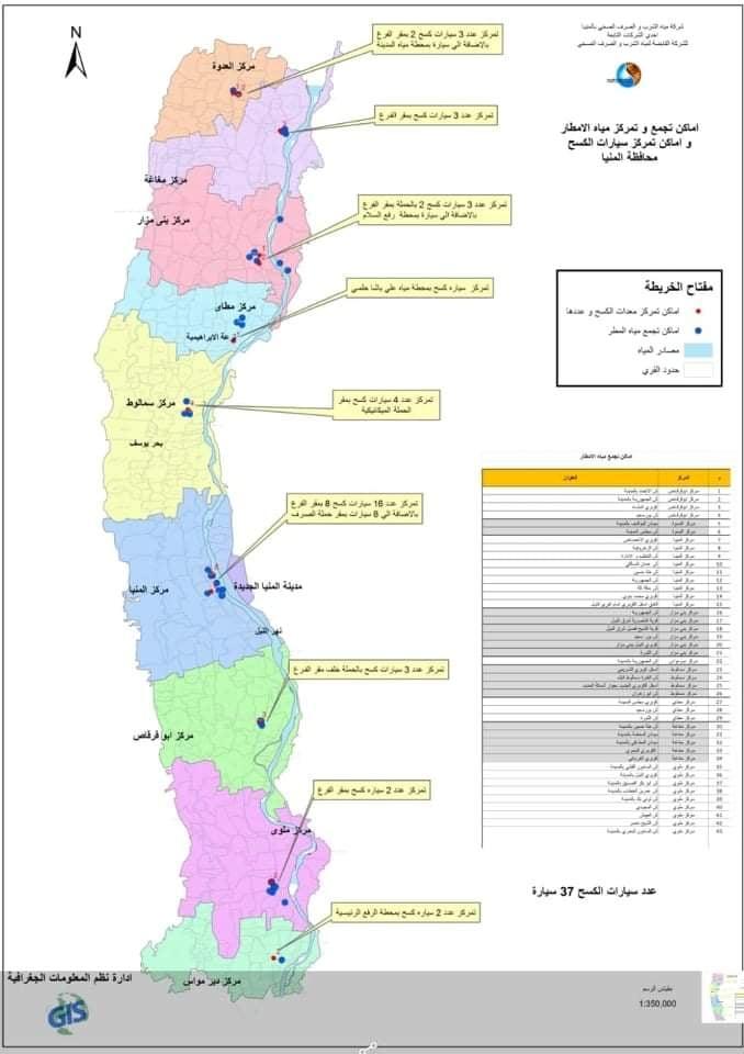 خريطة مياه المنيا