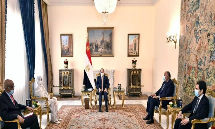 الرئيس يستقبل وزيرة خارجية السودان