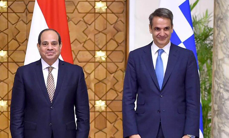 السيسي ورئيس الوزراء اليوناني