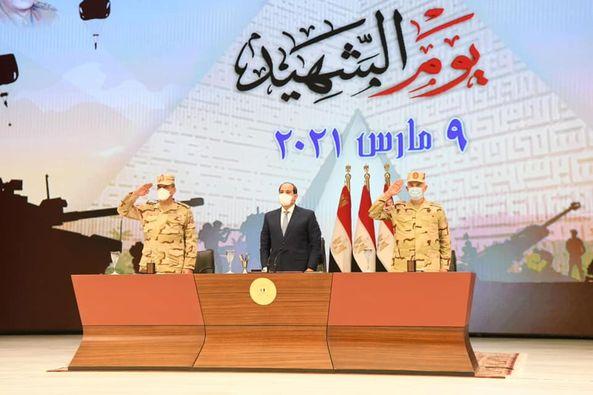 لقاء الرئيس عبد الفتاح السيسي بقادة وضباط وضباط صف وجنود القوات المسلحة